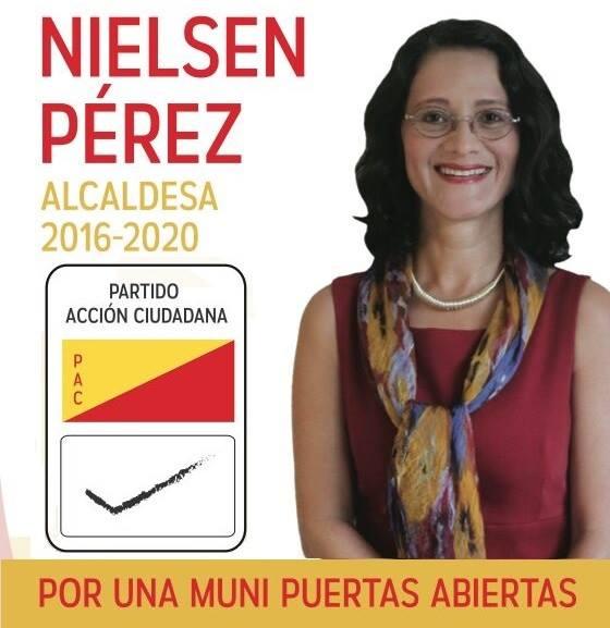 Nielsen Pérez, candidata por la alcaldía de Coronado.
