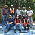 Junta Directiva de la ASADA Paso Ancho y Boquerón, Oreamuno de Cartago en proceso de inspección de los tanques de la naciente el Titoral. Foto cortesía colección familia Granados Bolaños.