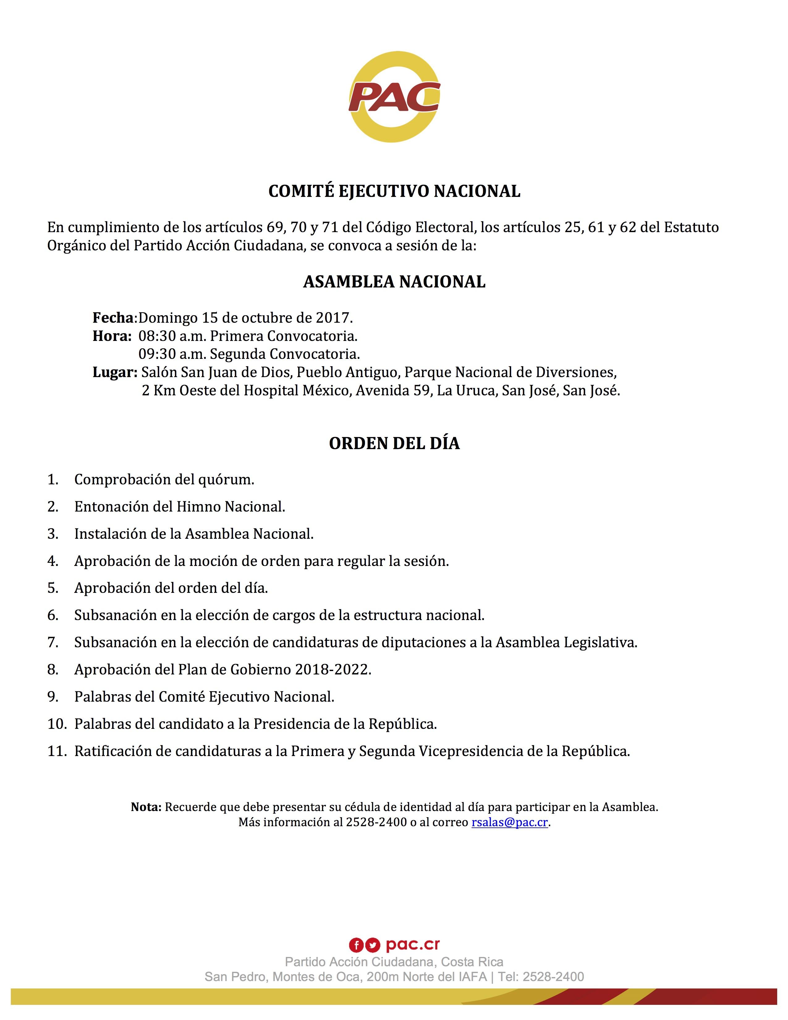 20171006 Agenda AN 15 Oct