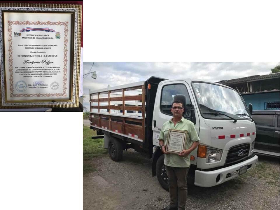 donación camión CTPG